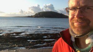 Bernard McKeown IMPACT Goal to swim around Looe Island as a reward. Making his goal measured.